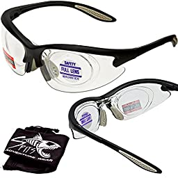 MORAYS Full Magnifying Reader Safety Glasses Reading Magnifier Eyewear Available from 1.25-3.00 Select Full Magnifier: ADD +2.50 Magnifier