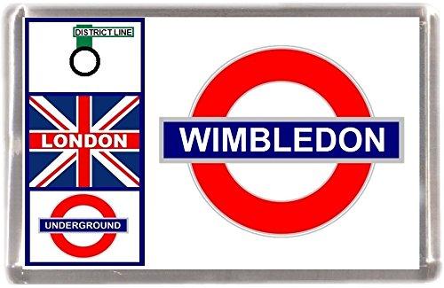 Kühlschrankmagnet London U-Bahn Wimbledon Geschenk Tourist Souvenir Mit Englisch Wörter