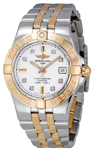 BREITLING GALACTIC 30 C71340L2-A715TT LADIES STAINLESS STEEL CASE DATE WATCH