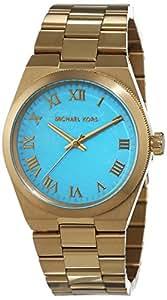 Michael Kors Channing Blue Dial Gold Tone SS Quartz Woman's Watch MK5894