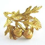 Bronze Acorn and Oak Leaf Napkin Rings