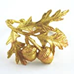 Bronze Acorn and Oak Leaf Napkin Rings