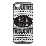 Black White Maya Aztec HAKUNA MATATA Best Durable Apple iphone 5/5s Case Cover Nice Rubber Design