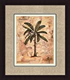 PALM-I-II-Tropical-Floral-Palm-Tree-Triple-Mat-FRAMED-PRINT-SET-Justin-Coopersmith-18×20-Each