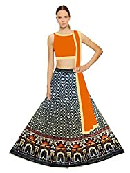 Fashion Galleria Women's Digital Printed Festive Semi-Stitched Lahenga Choli (FG_106)