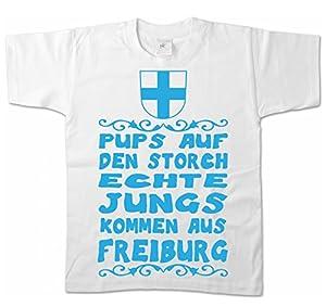 Artdiktat Kinder T-Shirt - Pups auf den Storch - Echte Jungs kommen aus Freiburg