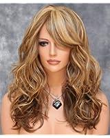KeeWig Medium & Dark Blonde Wig Mix Long Heat OK Loose Curly Wavy ABAR 2216