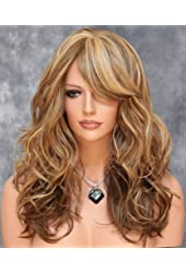 KeeWig Medium & Dark Blonde Wig Mix Long Heat OK Loose Curly Wavy ABAR 2216