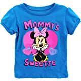 Minnie Mouse Baby-Girls Infant Disney Mommys Sweetie Tee, Blue, 12 Months