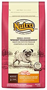 The Nutro Company Small Breed Adult Weight Management Food for Dogs with Chicken, Whole Brown Rice and Oatmeal Formula, 8-Pound