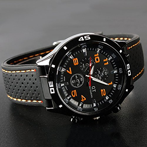 Cool-Mens-Racer-Military-Pilot-Aviator-Army-Silicone-Sports-Watch