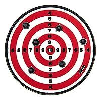 Ecusson Patch En Pvc 3d Cible Rouge Et Blanche Avec Velcro 3892 Airsoft Deco Sac Veste Trousse Blouson Casquette Casque Scratch