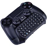 Megadream® Bluetooth Mini Wireless Chatpad Message Game Controller Keyboard Chatpad for Sony Playstation PS4 Controller - Black