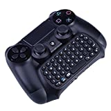 Koiiko® Wireless Bluetooth Mini Gamepad Keyboard Chatpad Joystick Message Controller Keypad for Sony Playstation PS4 Controller Black