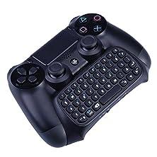 buy Megadream® Detachable 3.5Mm Audio Plug 47 Keys Handheld Mini Portable Bluetooth Wireless Keyboard For Sony Playstation Ps4 Controller Gamepad Chatpad Black