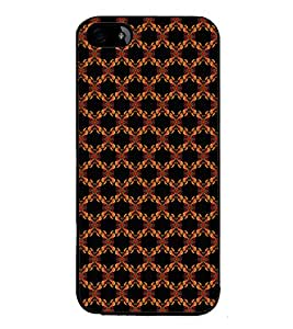 iFasho Animated Pattern design colorful flower in black background Back Case Cover for Apple iPhone 5S