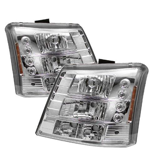 Spyder Auto Chevy Silverado 1500/2500/3500 Chrome Led Crystal Headlight With Bumper Light