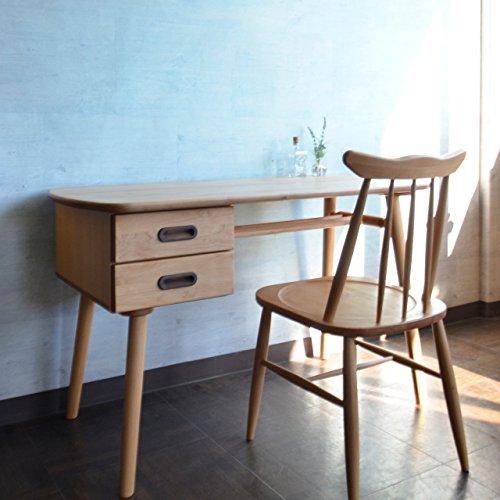 ISSEIKI デスク 木製机 【高品質アルダー無垢材使用】 シンプルで温かみのある北欧スタイル