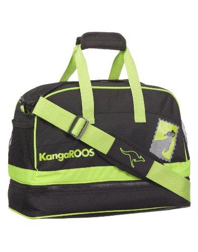 KangaROOS EDDIE B6026/500, Borsa da sport unisex bambino, 35x24x18 cm (L x A x P), Nero (Schwarz (black)), 35x24x18 cm (L x A x P)