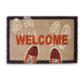 relaxdays 10016784 welcome paillasson paillasson tapis d 39 entr e rectangulaire fibre de coco. Black Bedroom Furniture Sets. Home Design Ideas