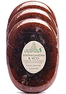 Ancient Ayurveda Ashwagandha and VCO Virgin Coconut Oil Luxury Soap Pack of 3