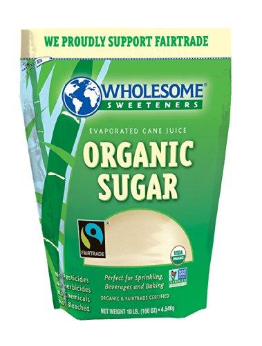 Wholesome Sweeteners Organic Fair Trade Cane Sugar, 10 Pound