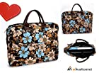 14 inch Laptop Bag Universal Messenger Bag Briefcase for Dell XPS 14z - Floral Print. Bonus Ekatomi Screen Cleaner Sticker