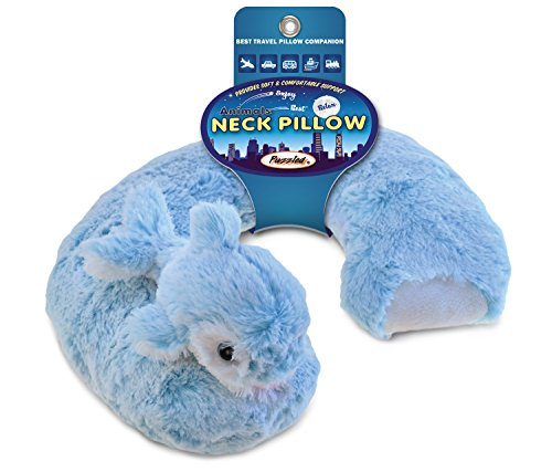 Plush Super-Soft Travel Neck Pillow - Dolphin large 140cm cartoon dolphin plush toy lovely blue or pink dolphin soft doll hugging pillow birthday gift w2332