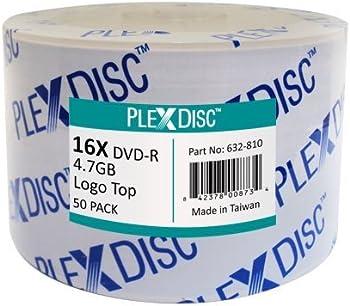 50-Pk PlexDisc 632-810 4.7GB/120 DVD-R Disc(s) Spindle