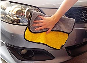 Super Thick Plush Microfiber Car Cleaning Cloths Car Care Microfibre Wax Polishing Detailing Towels.