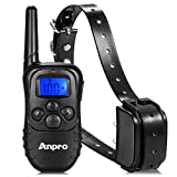 Anpro® 330 yards Rechargeable Remote Dog Training Collar with Beep, Vibration and Shock for 15 to 100 lbs Breed Dog Vibration/Shock Electronic Electric Collar