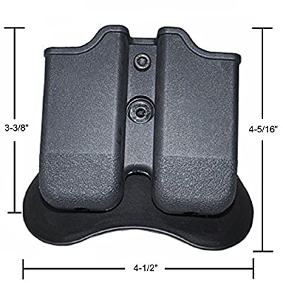 The Ultimate Double Magazine Pouch ✮ Dual Stack Mag Holster with Paddle ✮ 9mm and .40 Caliber ✮ Glock Compatible ✮ Backed By GoZier Tactical LIFETIME Warranty