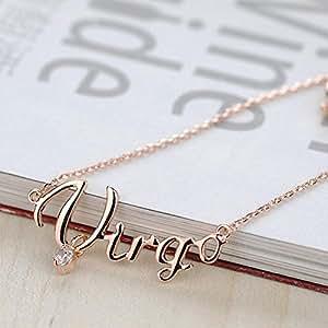 besondere eu diamant 12 sternzeichen jungfrau pop 2012101503 halskette gold buchstaben special. Black Bedroom Furniture Sets. Home Design Ideas