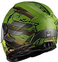 GLX Dual Visor Full Face Motorcycle Street Bike Helmet (Totem, Large) (DOT) by GLX