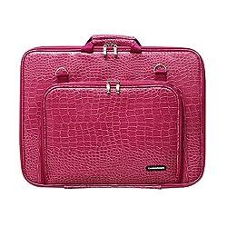 CaseCrown Memory Foam Pocket Case (Alligator Hot Pink) for HP 17 Inch Laptop