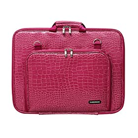 CaseCrown Double Memory Foam Case (Alligator Hot Pink) for HP G71-340US 17.3-Inch Laptop