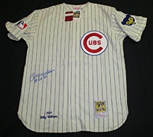PSA DNA BILLY WILLIAMS HOF 87 AUTOGRAPHED 1969 CHICAGO CUBS MITCHELL & NESS... by PSA DNA AUTOGRAPHED BASEBALL JERSEY