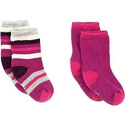SmartWool Sock Sampler - 2-Pack -Toddler & Infants\' Berry/Berry, 3T