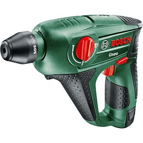 Bosch Uneo 10.8 LI-2 Cordless Lithium-Ion Pneumatic Rotary Hammer with 1 x 10.8 V Battery, 1.5 Ah