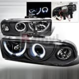 Spec-D Tuning Chevrolet S-10 1998 1999 2000 2001 2002 2003 2004 Dual LED Halo Projector Headlights - Black