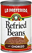 La Preferida Refried Beans Chorizo 16-Ounce Pack of 12