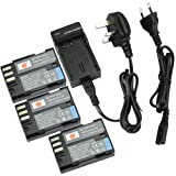 DSTE® (3-pack) D-LI90 Rechargeable Li-ion Battery + Charger DC93U for Pentax 645D, K-01, K-3, K-5, K-5 II, K-5 IIs, K-7 Digatal Camera