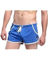 Demarkt Pantalon Court de Sport/ Short de Bain/ Sou-vetement pour Hommes - Bleu- Taille S/M/L