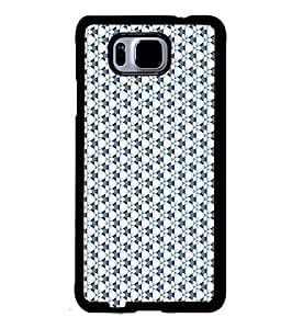 Fuson Premium Blue Floral Pattern Metal Printed with Hard Plastic Back Case Cover for Samsung Galaxy Alpha