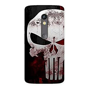 Stylish Bleed Red Skull Back Case Cover for Moto X Play