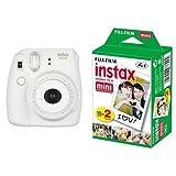 FUJIFILM インスタントカメラ チェキ instax mini8プラス バニラ + チェキ用フィルム 20枚入 セット