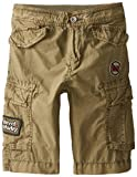 Diesel Little Boys' Perty Cotton Poplin Cargo Shorts with Patches