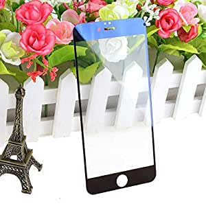 Cakin New Colorful Mirror Effect Electroplanting Premium Real Tempered Glass Film Screen Protector for Apple iPhone 6 - 4.7 inches Front and Back Panel 2 Packs (I6 4.7 Blue)