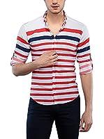 Philip Loren Camisa Hombre (Blanco / Rojo)