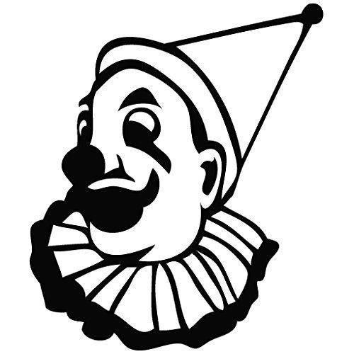 Clown Glad - Cartoon Decal Vinyl Removable Decorative Sticker for Wall, Car, Ipad, Macbook, Laptop, Bike, Helmet, Small Appliances, Music Instruments, Motorcycle, Suitcase